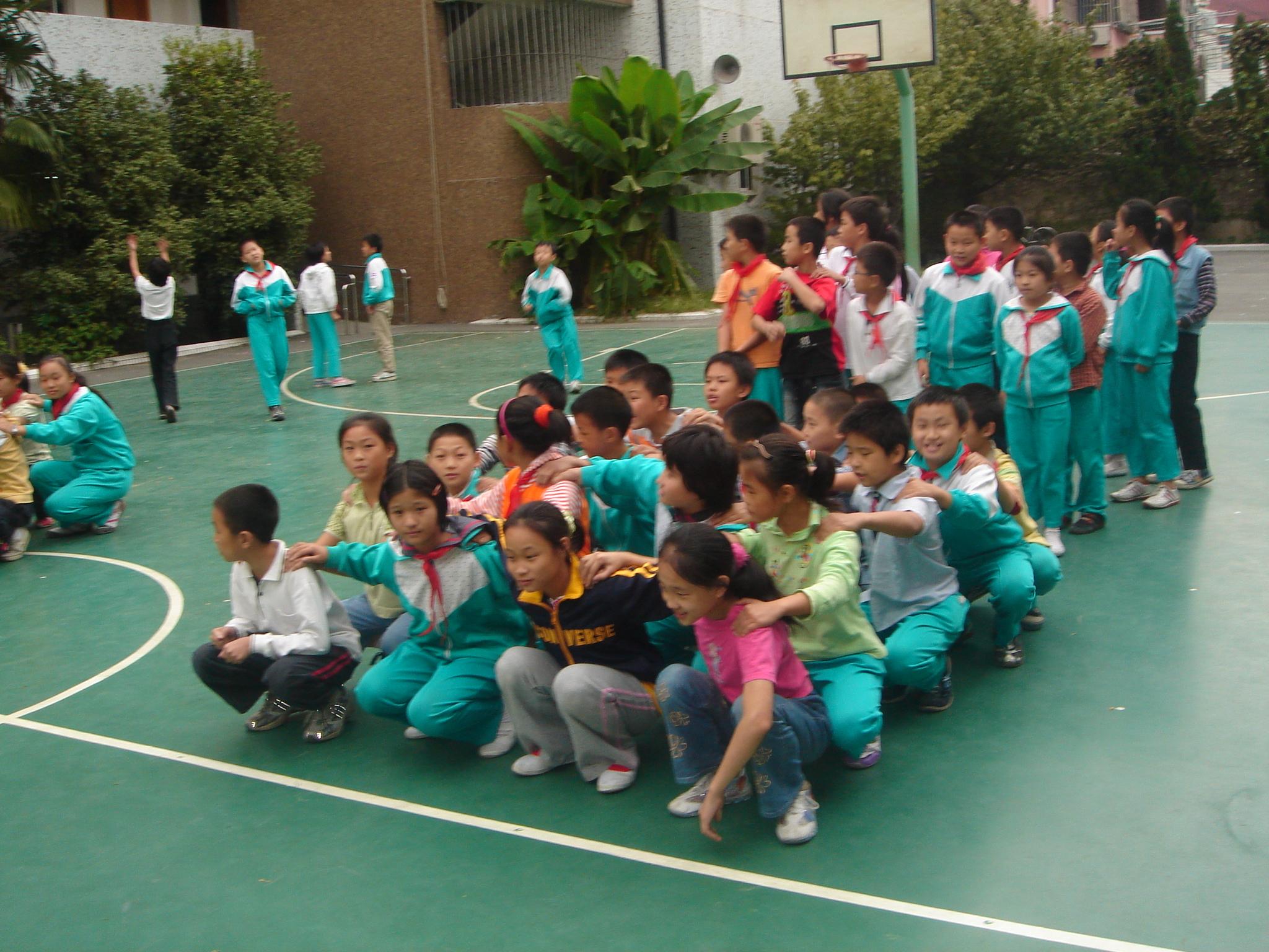 吴中路_2009学年校体育比赛照片内容吴中路小学